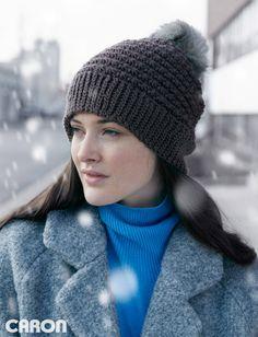 Yarnspirations.com - Caron 5 Star Beanie - Patterns    Yarnspirations   Crochet   Free pattern
