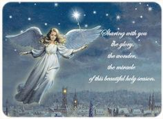 Angels We Have Heard - Religious Christmas Card