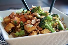 Spicy Peanut Tofu Pad Thai by the Healthy Foodie.. amazing!