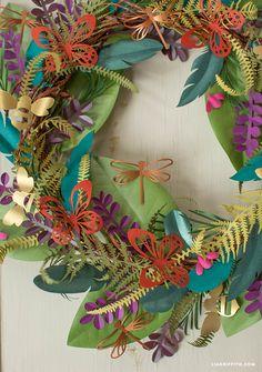 Boho Botanical Paper Wreath