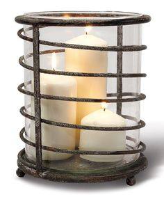 Iron Swirl Lantern - Set of Two This is so cute! I could prob find something out back that looks like that, add candles and done!