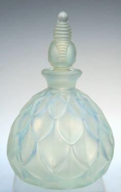 French Art Deco Sabino Glass Perfume Bottle