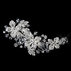 Swarovski Crystal Bead & Rhinestone Flower Hair Clip.