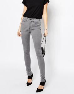 Dr Denim – Plenty – Skinny Jeans mit hoher Taille