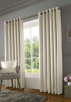 View the Burj Ready Made Lined Eyelet Curtains Mink from Terrys Fabrics. Custom Drapes, Made To Measure Blinds, Master Bedrooms Decor, Bedroom Decor, Curtains Living Room, Curtains, Cream Curtains, Curtains Bedroom, Living Room Windows