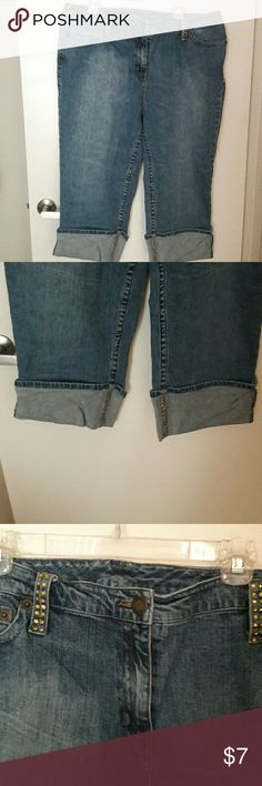 Jeans (INC International Concepts) These are Capri jeans that are studded on some of the belt loops,and on the bottom seams. They are in great condition. 🌻 INC International Concepts Jeans Ankle & Cropped