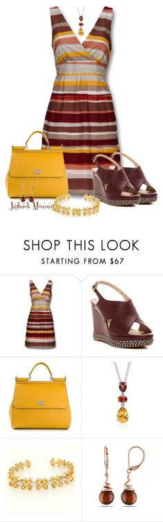 """Summer Stripes"" by jayhawkmommy ❤ liked on Polyvore featuring Mexx, Ellen Tracy, Dolce&Gabbana, Blue Nile, Vintage and Allurez"