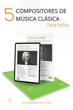 Descarga gratis nuestra guía sobre 5 biografías de compositores de música clásica para niños: claras, resumidas y con sugerencias musicales. Sebastian Bach, Orchestra, Instruments, Musicals, Teachers