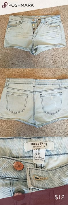 Forever 21 jean shorts Distressed button fly jeans shorts Forever 21 Shorts Jean Shorts
