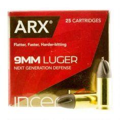 Polycase Inceptor 9mm Luger +P Ammunition 25 Rounds 65 Grain Cu/P ARX 1620fps - 9ARXBRLUGP65 - 813412020968