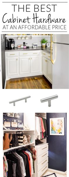 "Source list for cheap cabinet hardware from single screw T-Bar pulls all the way up to jumbo 20"" pulls. This list is so handy!"