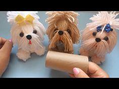 Dyi Crafts, Diy Crafts Videos, Crafts To Do, Yarn Crafts, Toilet Paper Roll Crafts, Paper Crafts, Yarn Animals, Art And Craft Design, Felt Ornaments