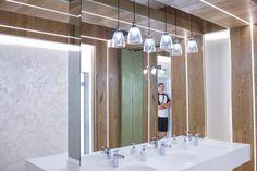 New concept lighting Modern Bathroom, Bathroom Lighting, Bathrooms, Concept, Led, Mirror, Furniture, Home Decor, Bathroom Light Fittings