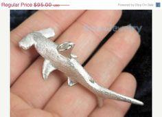 EOFY SALE Sterling Silver 3D Hammerhead Shark by Dive4Jewelry, $87.40