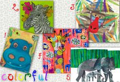 Colorful Jungle Themed Artwork for Kids' Rooms from Oopsy Daisy