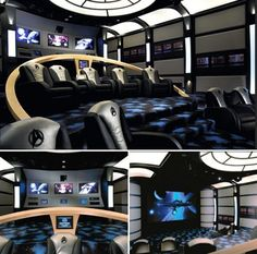 Movie theatre trek bridgeOh this is awesome! The geek in me loves this and it's Danny thats the trekie not me.