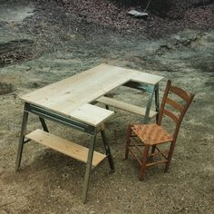 Sawhorse Computer Desk - Saw Horse Table Legs Rustic Minimalist Industrial Desk…