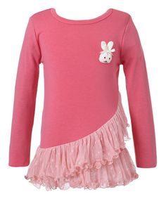 Look what I found on #zulily! Watermelon Asymmetrical-Ruffle Tee - Toddler & Girls #zulilyfinds