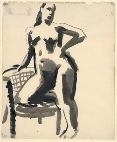Female with Chair 1955-59 - David Park (1911 - 1960) | Flickr - Photo Sharing!