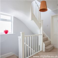 Railing New Landing for Loft Conversion Bedroom in West End Surrey Call us for a FREE Quotation Today 01252 500 872 Loft Conversion Plans, Loft Conversion Stairs, Loft Conversion Design, Loft Conversions, Attic Loft, Loft Room, Bedroom Loft, Bedroom Decor, Loft Bathroom