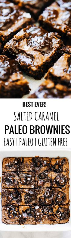 Paleo Gluten Free Eats: Salted Caramel Paleo Brownies (Paleo, Gluten-Free).