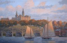 Patrick O'Brien. View of Georgetown.