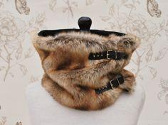 Col snood loop boucles fausse fourrure renard avec intérieur en polaire