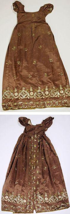 Dress, 1810, British, Made of silk