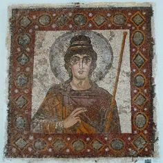 The Lady of Carthage, mosaic, end of 5th century AD, vandal or byzantine period, Tunisia. #carthage #mosaic #Tunisia #archeology #vandal #byzantine #byzance | Ahmed Ben Cheikh
