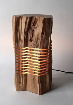 Reclaimed Wood Sculpture Minimal Illuminated Art
