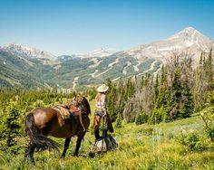 Horseback riding at Yellowstone
