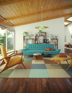 55+ Mid Century Modern Living Room Furniture Ideas - Page 35 of 58