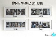 Geschenkidee - Namen aus Fotos gestalten - Tintenelfe Blog