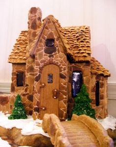 Gingerbread Houses with a lovely stone effect