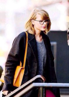 NYC  01.04.14 <3 she should wear her glasses more often :) she's so cute in them