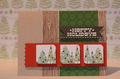 Inspired by Kristina Werner. Happy Holiday xMas handmade card.