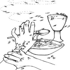 Moses in Egypt and the plague of gnats. Bible coloring pages.at what age do you introduce this at? Toddler Sunday School, Sunday School Classroom, Sunday School Activities, Sunday School Lessons, Sunday School Crafts, Bible School Crafts, Bible Crafts, Sunday School Coloring Pages, Bible Coloring Pages