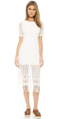 J.O.A. Crochet Midi Dress