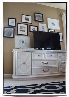 Dresser as TV stand