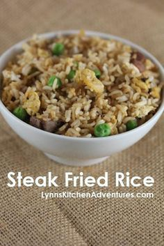 Steak Fried Rice- Quick and easy dinner idea and a great way to use up leftovers