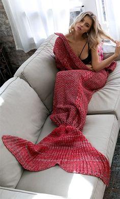 Beauty Sleep Red Mermaid Tail Blanket