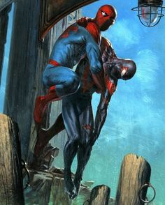 Peter Parker and Miles Morales by Gabriele dell'Otto