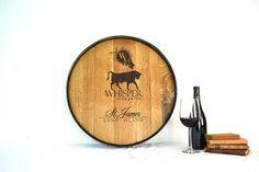 Custom Engraved Wine Barrel Head 100 by winecountrycraftsman