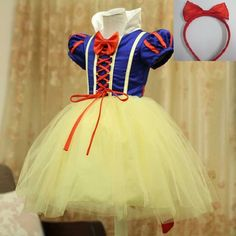 Costumes Child Girls Princess Snow White Cosplay Tutu Dress Party Festival Fancy Dress Up Cheap Christmas Dresses, Baby Girl Christmas Dresses, Little Girl Dresses, Girls Dresses, Costume Prince, Princess Costumes, Girl Costumes, Snow White Dresses, Snow Dress