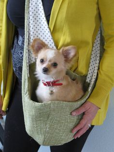 Pet Sling Just Basic Reversible SMALL Olive and by ZabiZu on Etsy