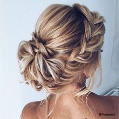 36 Chic And Easy Wedding Guest Hairstyles ❤ wedd. 36 Chic And Easy Wedding Guest Hairstyles ❤ wedding guest hairstyles low updo on blonde hair with braided side crown xenia_stylist Easy Wedding Guest Hairstyles, Bridesmaid Hairstyles, Wedding Updo With Braid, Hairstyle Wedding, Bridesmaid Hair Updo Braid, Prom Hair Updo Elegant, Hair Updos For Weddings Guest, Simple Bridesmaid Hair, Elegant Updo