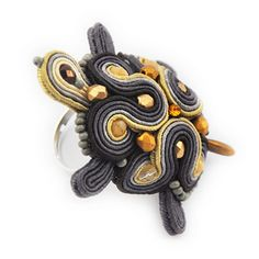 Hey, I found this really awesome Etsy listing at https://www.etsy.com/listing/189777139/turtle-soutache-3d