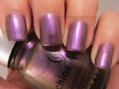 Midnight Manicures: China Glaze - Bohemian Luster Chrome Collection.  Click to see the review.