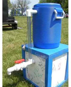 You can make your very own margarita machine using a cooler, a garbage disposal, and some PVC.