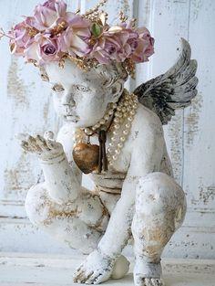 Estatua del querubín apenado con hecho a mano por AnitaSperoDesign